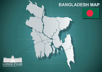 Free Bangladesh Map Illustration - Free vector #389253