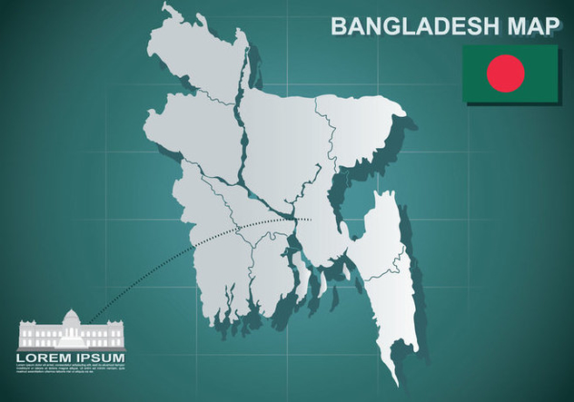 Free Bangladesh Map Illustration - Kostenloses vector #389253