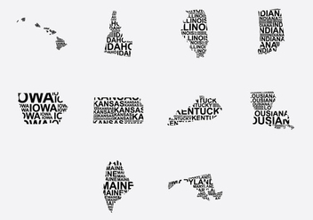 America Word Map Set 2 - vector #389303 gratis