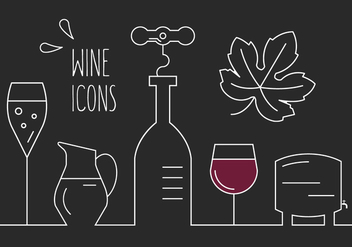 Free Wine Icons - vector gratuit #389323