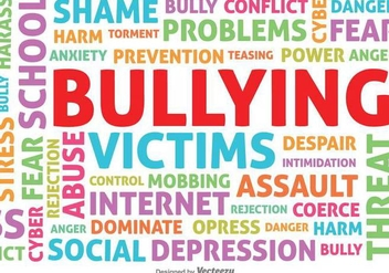Bullying Typographic Vector Background - vector gratuit #389543
