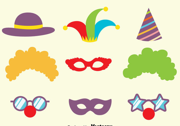 Carnival Purim Mask Collection Vector - Free vector #389553