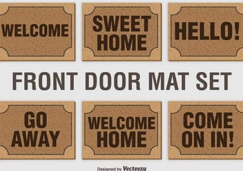 Welcome Mat Vector Set - Free vector #389603