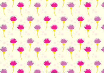Purple Thistle Seamless Patern - Kostenloses vector #389653