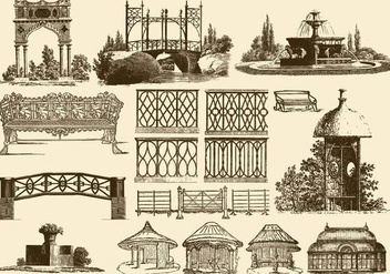 Vintage Garden Decoration - Free vector #389693