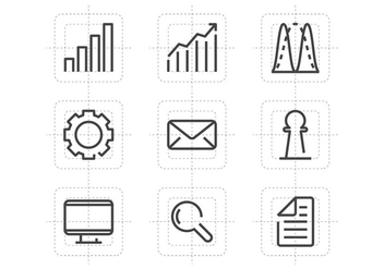 Diagram Line Icons - vector gratuit #389733