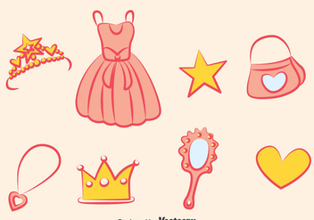 Princess Element Vector Set - Kostenloses vector #389763