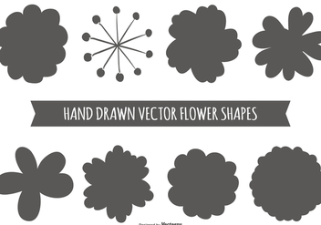 Hand Drawn Flower Shapes - vector gratuit #389923
