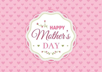 Free Vector Happy Moms Day Illustration - Kostenloses vector #389983