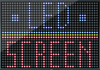 Led Screen Illustration - Fully Editable Elements - Free vector #390013