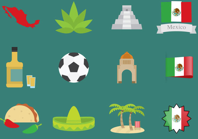 Mexico Icons - vector gratuit #390053