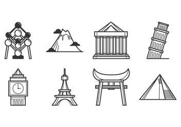 Free Landmark of The World Icon Vector - Kostenloses vector #390063