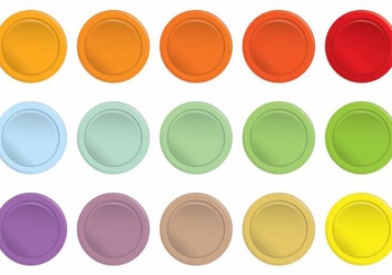 Colorful Simple Arcade Button Set - Kostenloses vector #390073