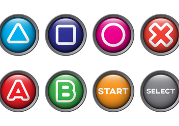 Free Arcade Button Vectors - бесплатный vector #390113