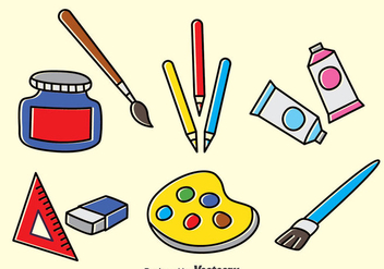 Drawing Tools Vector Set - Free vector #390173