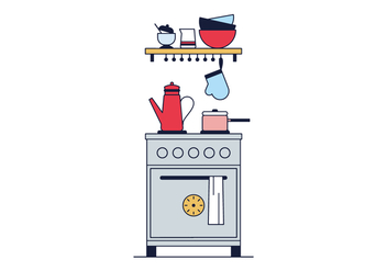 Free Kitchen Vector - vector #390303 gratis