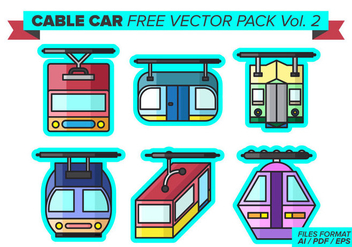 Cable Car Free Vector Pack Vol. 2 - Kostenloses vector #390343