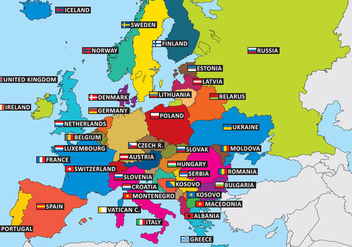 State Outlines Europe - vector gratuit #390353