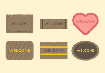 Free Welcome Mat Vector 2 - vector gratuit #390383