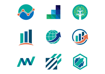 Free Growth and Finance Logo Template - бесплатный vector #390453