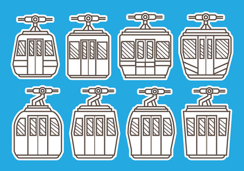Cable Car Vector - vector gratuit #390463