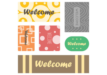 Free Welcome Mat Vector 4 - vector #390503 gratis