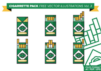 Cigarette Pack Free Vector Illustrations Vol. 3 - vector gratuit #390533