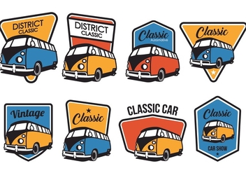 Free Classic Car Badge Vector Pack - vector gratuit #390573