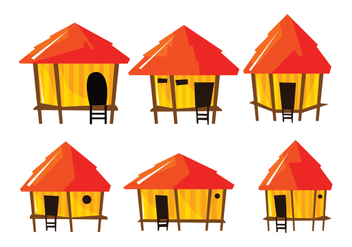 Bright Shack Vector - vector #390623 gratis