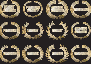 Laurel Custom Premium Badges - vector #390723 gratis