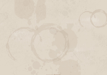 Coffee Stained Grunge Background - бесплатный vector #390793