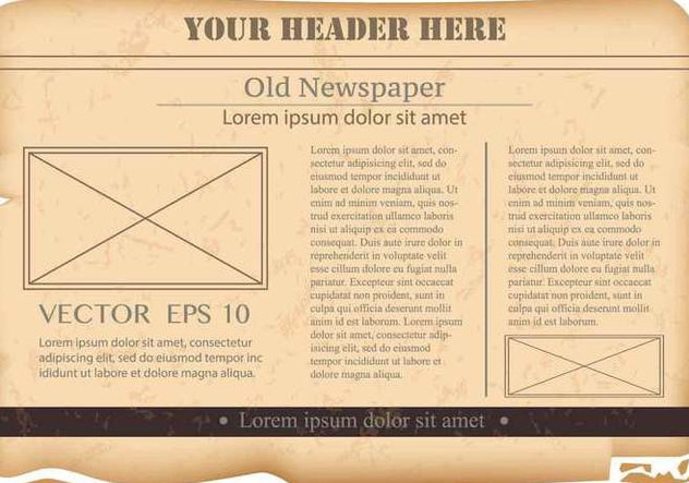 Vintage Old Newspaper Background - бесплатный vector #390803