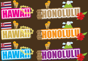 Hawaii And Honolulu Titles - Free vector #390833