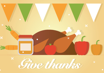 Free Give Thanks Vector Background - vector gratuit #390903