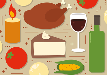 Thanksgiving Food Illustration - Free vector #390923