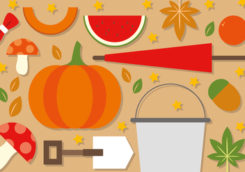 Free Flat Autumn Vector Elements - Kostenloses vector #390983
