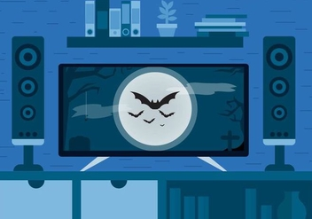 Halloween Movie Vector Design - vector gratuit #390993