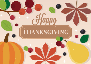 Free Vector Thanksgiving Background - Kostenloses vector #391023