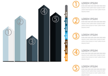 Infographic with curve diagram design illustration - Free vector #391033
