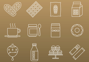 Cocoa And Chocolate Icons - бесплатный vector #391073