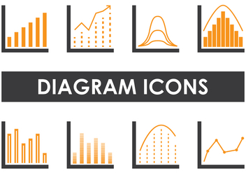 Diagram Icons - vector gratuit #391123