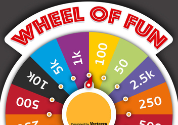 Vector Spinning Wheel Of Fortune - vector gratuit #391133