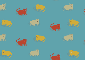 Illustration Cats Pattern - Kostenloses vector #391143