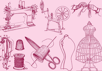 Fashion And Sewing Drawing - vector #391223 gratis