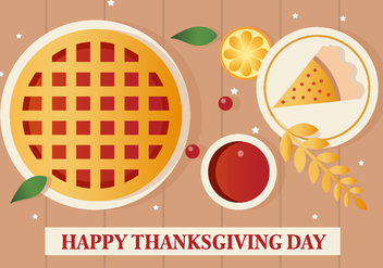 Free Vector Thanksgiving Pie - Free vector #391273