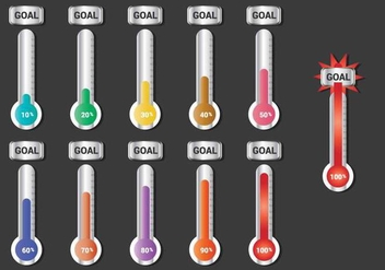 Goal Thermometer Vector - Free vector #391343