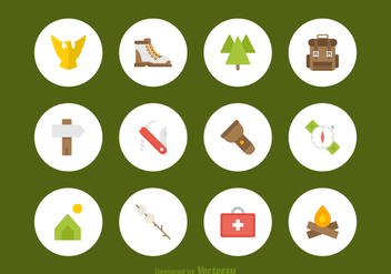Free Flat Scouts Vector Icons - Free vector #391353