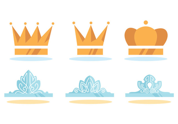 Pageant Crown Vector Set - vector gratuit #391423