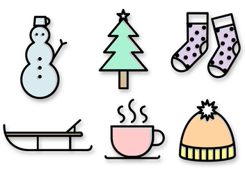 Free Christmas Icons Vector - Kostenloses vector #391443