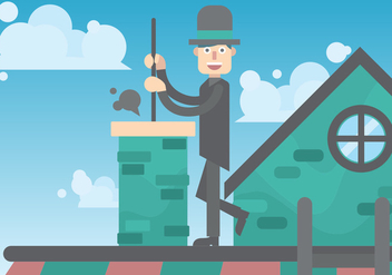 Chimney Sweep Vector Art - Free vector #391453